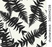 seamless pattern of fern leaves.... | Shutterstock . vector #360544238
