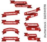set of festive ribbons on the... | Shutterstock .eps vector #360544598