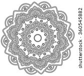 mandala. hand drawn ethnic... | Shutterstock .eps vector #360545882