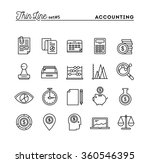 accounting  business statistics ... | Shutterstock .eps vector #360546395