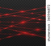 abstract red laser beams.... | Shutterstock .eps vector #360546872