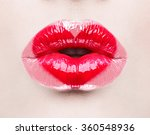 valentine heart kiss on the... | Shutterstock . vector #360548936
