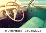 interior of classic vintage car ... | Shutterstock . vector #360552326