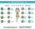 pregnancy nutrition infographic   Shutterstock .eps vector #360559802