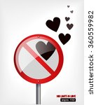 no limits in love concept with... | Shutterstock .eps vector #360559982