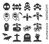 death icon set | Shutterstock .eps vector #360560195