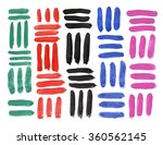 abstract multi colored strokes... | Shutterstock . vector #360562145