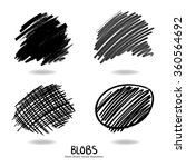 hand drawn design elements  set ... | Shutterstock .eps vector #360564692