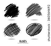 hand drawn design elements  set ... | Shutterstock .eps vector #360564692