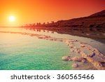 Stock photo sunrise over dead sea 360565466