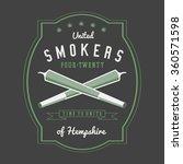 marijuana weed ganja smoker... | Shutterstock .eps vector #360571598