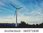 windmill standing in... | Shutterstock . vector #360571838