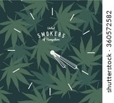 marijuana ganja weed pot clock...