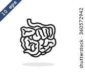 small intestine icon | Shutterstock .eps vector #360572942