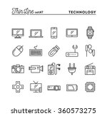 technology  devices  gadgets... | Shutterstock .eps vector #360573275