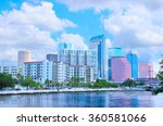 tampa  florida skyline as... | Shutterstock . vector #360581066