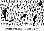 set of vector silhouettes of... | Shutterstock . vector #36058174