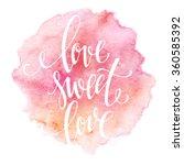 poster watercolor lettering ... | Shutterstock .eps vector #360585392