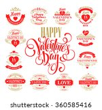 valentine day set of typography ... | Shutterstock .eps vector #360585416