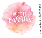 watercolor valentines day card... | Shutterstock .eps vector #360585452