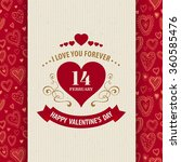 valentines day typography... | Shutterstock .eps vector #360585476