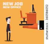 welcome to the new job vector... | Shutterstock .eps vector #360586052