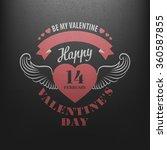 typography postcard happy... | Shutterstock .eps vector #360587855