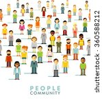 modern multicultural society... | Shutterstock .eps vector #360588212