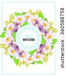 vintage delicate invitation...   Shutterstock . vector #360588758