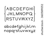 font sans serif | Shutterstock .eps vector #360589052