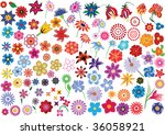 vector flowers | Shutterstock . vector #36058921