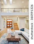 beautiful and large living room ... | Shutterstock . vector #360591326