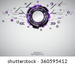 abstract purple technology... | Shutterstock .eps vector #360595412