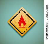 warning sign. flammable. flat... | Shutterstock . vector #360600806