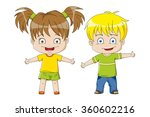 two nice kids | Shutterstock .eps vector #360602216