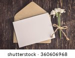 blank white greeting card with... | Shutterstock . vector #360606968