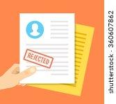 job application rejected. hand... | Shutterstock .eps vector #360607862