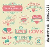 valentine's day labels and... | Shutterstock .eps vector #360610256