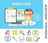 medicine flat illustration and... | Shutterstock .eps vector #360612656