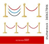 red carpet gold barrier... | Shutterstock .eps vector #360617846