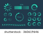 futuristic progress loading bar.... | Shutterstock .eps vector #360619646