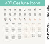430 gestures icons for touch... | Shutterstock .eps vector #360619862