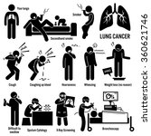 lung cancer symptoms causes...   Shutterstock .eps vector #360621746