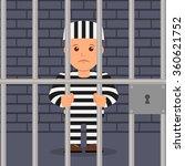 male prisoner in cartoon style | Shutterstock .eps vector #360621752