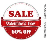 valentine's day sale 50  off.... | Shutterstock .eps vector #360622796