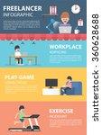 freelance infographic design... | Shutterstock .eps vector #360628688