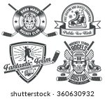 hockey tattoos and logos with... | Shutterstock .eps vector #360630932