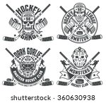 hockey logos with helmets ... | Shutterstock .eps vector #360630938