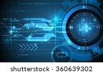 vector abstract futuristic... | Shutterstock .eps vector #360639302