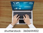 businessman hands working with... | Shutterstock . vector #360644402